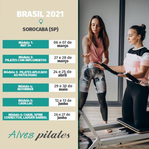 Datas do Curso pilates em Sorocaba