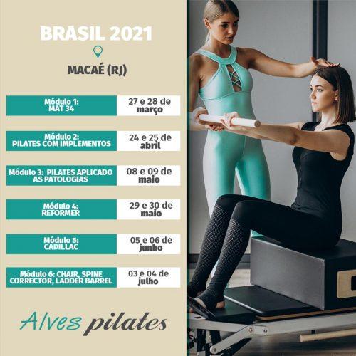 Curso pilates Macaé 2021