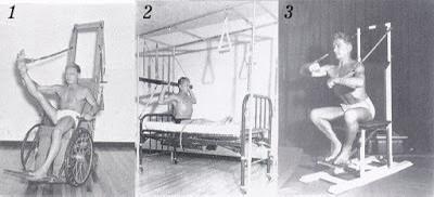 Joseph Pilates com suas invençōes