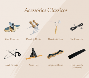 Acessórios clássicos e originais de pilates