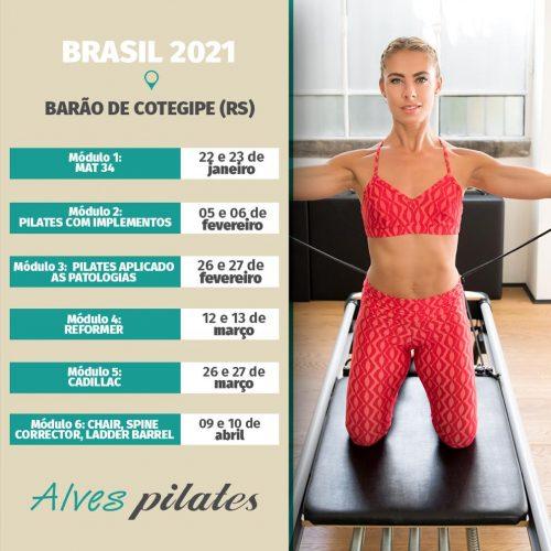 Curso pilates Barão de Cotegipe Erechim Passo Fundo 2021