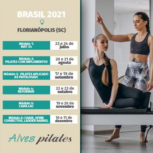 Curso de Pilates Florianópolis Garopaba Camboriú Palhoça 2021