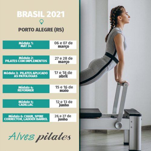 Curso de pilates Porto Alegre 2021