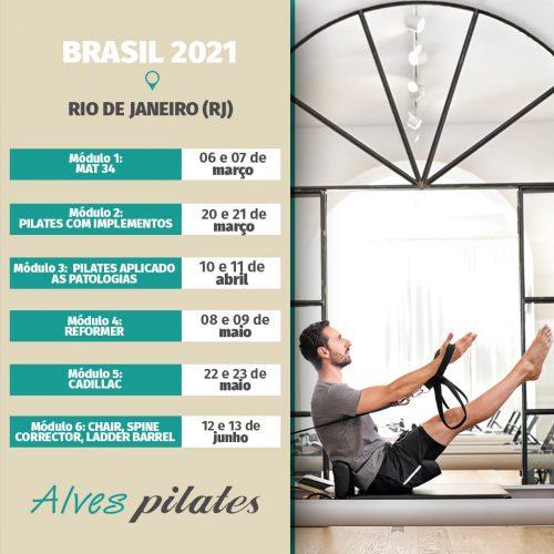 Curso de pilates Rio de Janeiro 2021