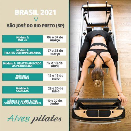 Curso de Pilates São José do Rio Preto 2021