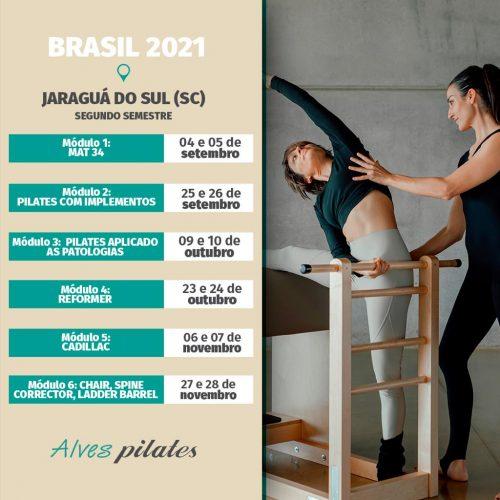 Curso de pilates Jaraguá do Sul em 2021